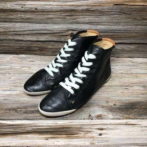 FRYE Women's Melanie High-ASV Sneakers Black